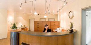 Empfang in der Zahnarztpraxis drs. Kisters in Witten Link zum Panorama